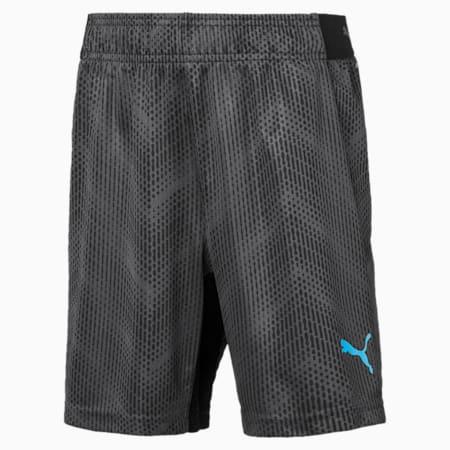 ftblNXT Graphic Shorts Jr, Puma Black-Luminous Blue, small-IND