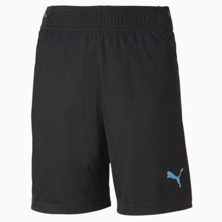 ftblNXT Shorts Jr, Puma Black-Luminous Blue, small-IND