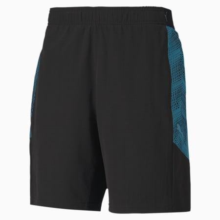ftblNXT Pro Knitted Men's Football Shorts, Puma Black-Luminous Blue, small
