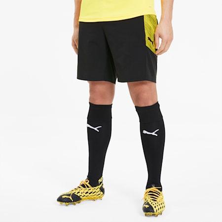 Męskie dzianinowe szorty piłkarskie ftblNXT Pro, Puma Black-ULTRA YELLOW, small