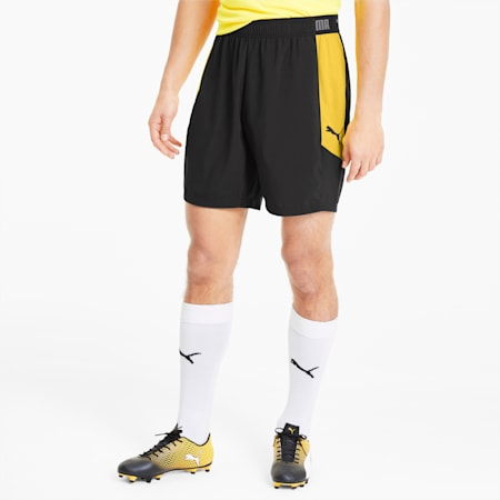 ftblNXT Woven Men's Football Shorts, Puma Black-ULTRA YELLOW, small