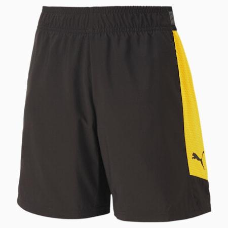 ftblNXT Kinder Fußball Gewebte Shorts, Puma Black-ULTRA YELLOW, small