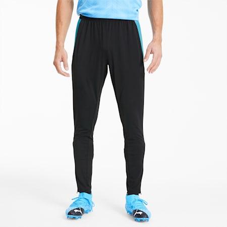 ftblNXT Knitted Men's Football Sweatpants, Puma Black-Luminous Blue, small-SEA