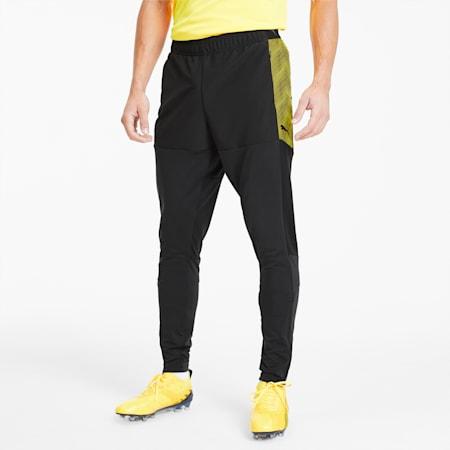 fbtlNXT Men's Pro Pants, Puma Black-ULTRA YELLOW, small