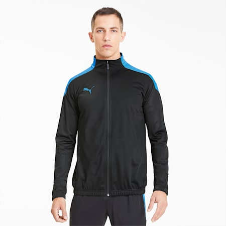 ftblNXT Men's Track Jacket, Puma Black-Luminous Blue, small