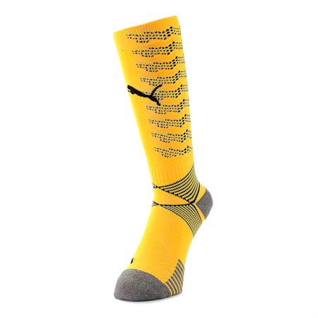 ftblNXT Team Men's Football Socks, ULTRA YELLOW-Puma Black, small-SEA