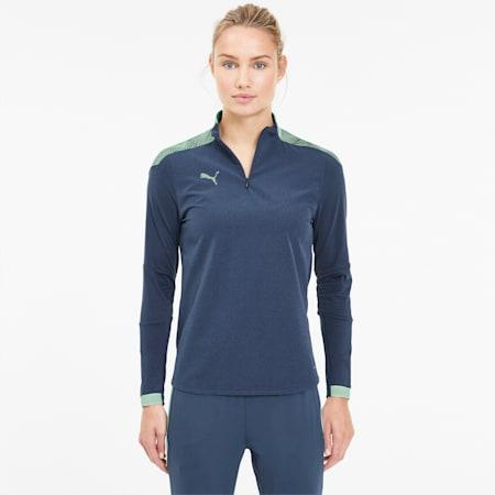 Damska bluza ftblNXT Quarter Zip, Dark Denim-Mist Green, small