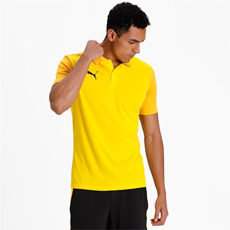 GOAL Sideline Men's Polo, Cyber Yellow-Spectra Yellow, small-IND