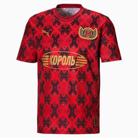 Męska piłkarska koszulka sportowa z krótkim rękawem Moskwa, High Risk Red-Chili Pepper, small