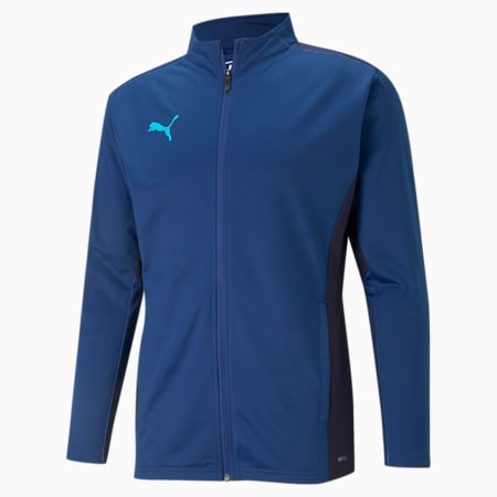 teamCUP Training Men's Football Jacket, Limoges-Peacoat-Blue Atoll, small-IND