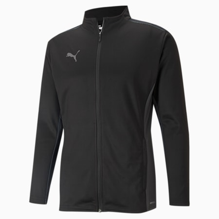 teamCUP Training Men's Football Jacket, Puma Black-Smoked Pearl-Asphalt, small-IND