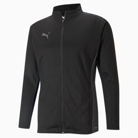 teamCUP Training Men's Football Jacket, Black-Smoked Pearl-Asphalt, small-IND