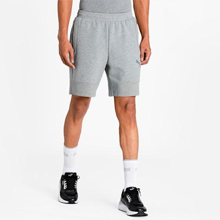 teamCUP Casuals Regular Fit Men's Football Shorts, Medium Gray Heather, small-IND