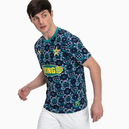 Męska piłkarska koszulka sportowa z krótkim rękawem Marrakech, Dwurzędowa kurtka marynarska, small