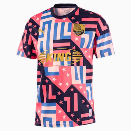 Camiseta de fútbol de manga corta para hombre Havana, Sun Kissed Coral-Pearl, small
