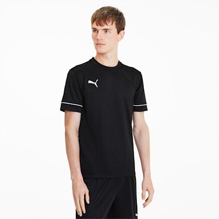 GOAL Football Training Men's Tee, Puma Black-Puma White, small-SEA
