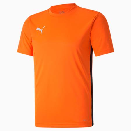 ftblPLAY Men's Shirt, Shocking Orange-Puma Black, small-SEA