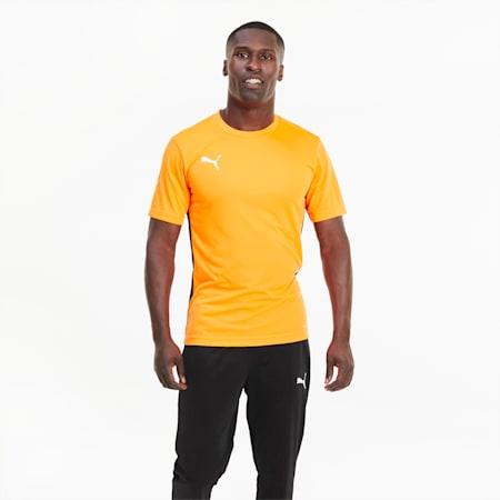 ftblPLAY Men's Shirt, Shocking Orange-Puma Black, small