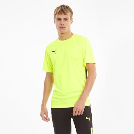 Męski T-shirt ftblPLAY, Yellow Alert-Puma Black, small