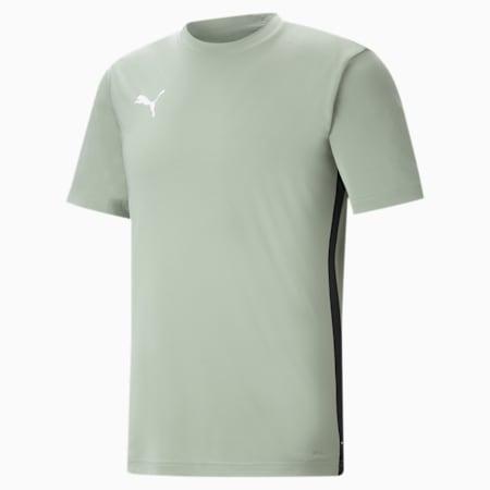 ftblPLAY dryCELL Men's Slim Shirt, Desert Sage-Puma Black, small-IND