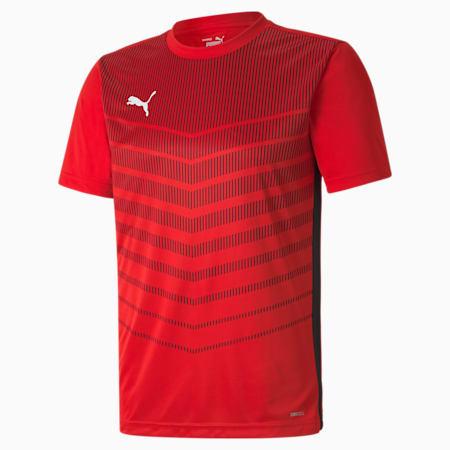 ftblPLAY Graphic Men's Shirt, Puma Red-Puma Black, small