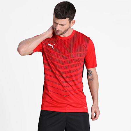 ftblPLAY Graphic Men's Shirt, Puma Red-Puma Black, small-IND