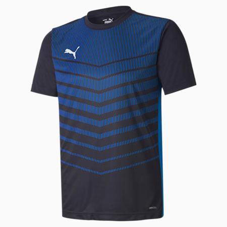 ftblPLAY Graphic Men's Shirt, Navy-Electric Blue Lemonade, small-GBR