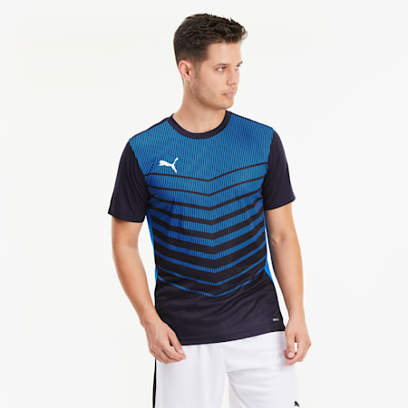 Męski T-shirt z grafiką ftblPLAY, Navy-Electric Blue Lemonade, small