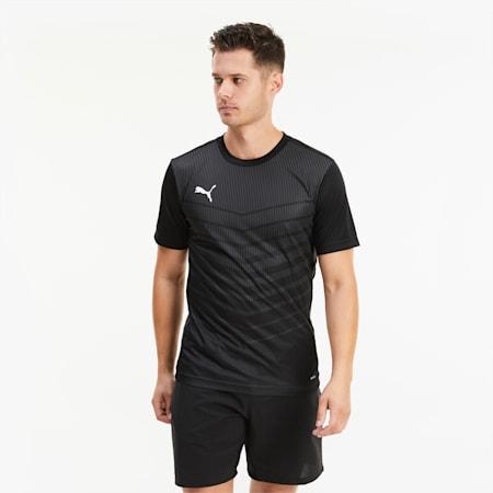 Camiseta con estampado ftblPLAY para hombre, Puma Black-Asphalt, small