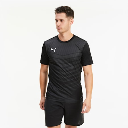 Męski T-shirt z grafiką ftblPLAY, Puma Black-Asphalt, small