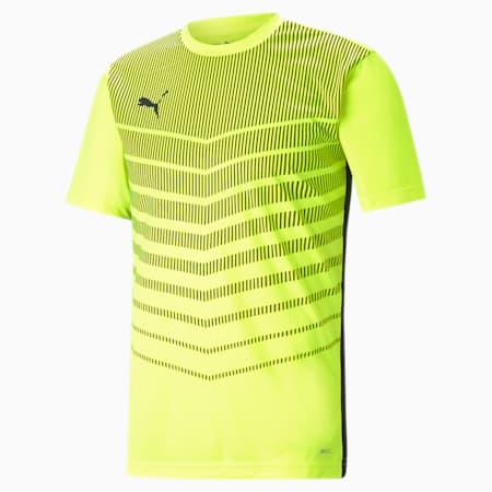 ftblPLAY Graphic Men's Shirt, Yellow Alert-Puma Black, small