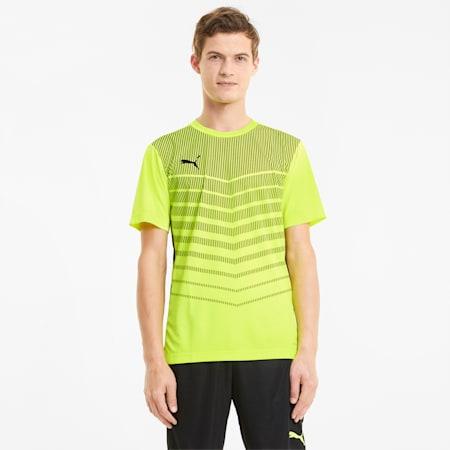 Męski T-shirt z grafiką ftblPLAY, Yellow Alert-Puma Black, small