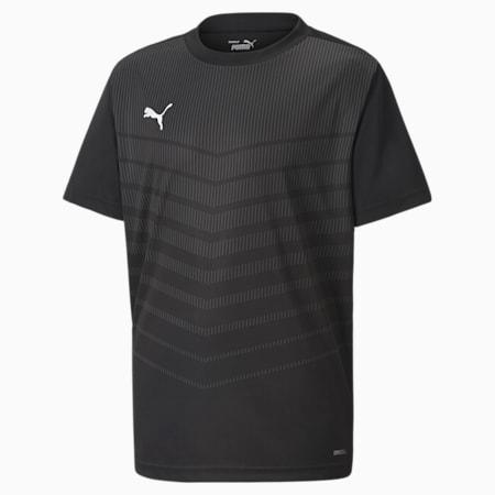 Camiseta ftblPLAY Graphic para jóvenes, Puma Black-Asphalt, small