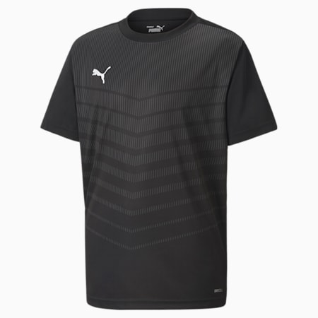 Młodzieżowa koszulka ftblPLAY Graphic, Puma Black-Asphalt, small