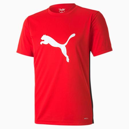 ftblPLAY Logo Men's Slim T-shirt, Puma Red-Puma Black, small-IND