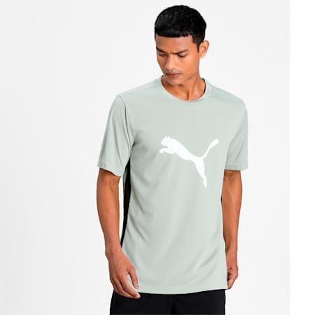 ftblPLAY Logo Men's Slim T-shirt, Desert Sage-Puma Black, small-IND