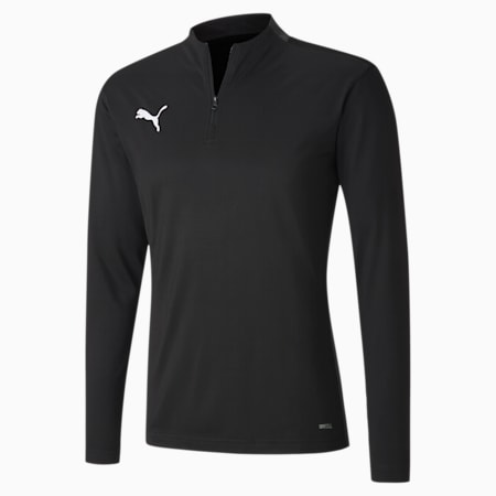ftblPLAY Quarter Zip Men's Top, Puma Black-Asphalt, small-GBR