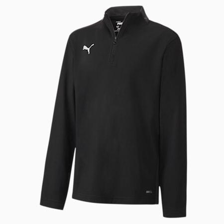 ftblPLAY Quarter Zip top voor jongeren, Puma Black-Asphalt, small