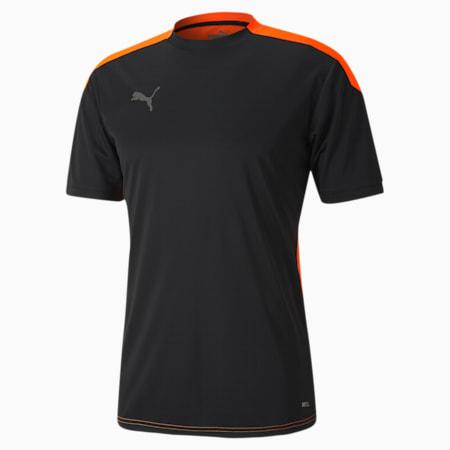 ftblNXT Men's Football Jersey, Puma Black-Shocking Orange, small-SEA