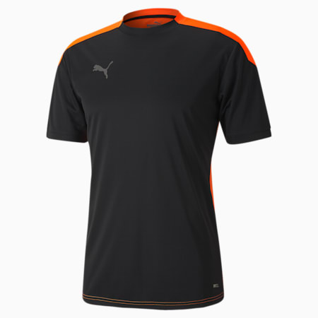 풋볼 넥스트 반팔 티셔츠, Puma Black-Shocking Orange, small-KOR