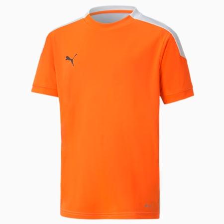 ftblNXT Kid's Football Jersey, Shocking Orange-Puma White, small-IND