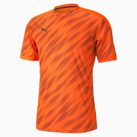 ftblNXT Graphic Men's Football Jersey, Shocking Orange-Asphalt, small-IND
