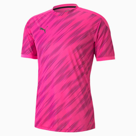 ftblNXT grafisch voetbalshirt voor heren, Luminous Pink-Puma Black, small