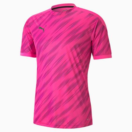 풋볼 넥스트 그래픽 반팔 티셔츠, Luminous Pink-Puma Black, small-KOR
