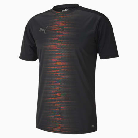 ftblNXT Pro Men's Football Tee, Puma Black-Shocking Orange, small-SEA