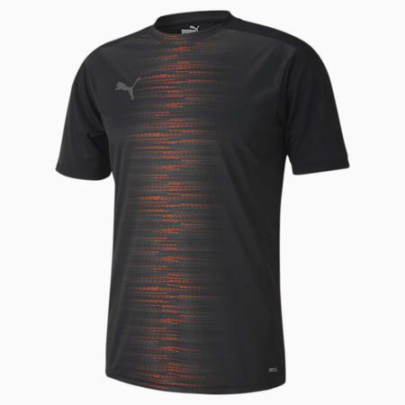 풋볼 넥스트 프로 반팔 티셔츠, Puma Black-Shocking Orange, small-KOR