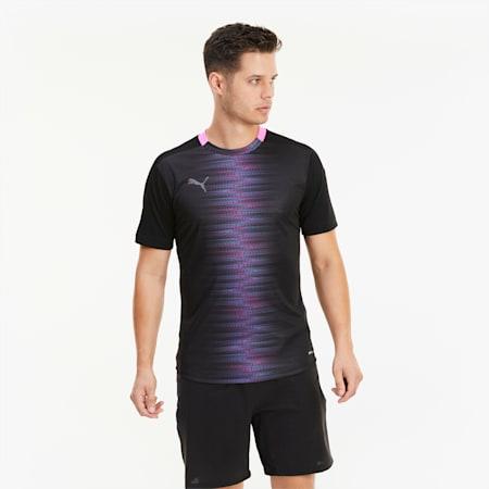 ftblNXT Pro Men's Football Tee, Puma Black-Luminous Pink, small