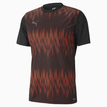 풋볼 넥스트 그래픽 코어 반팔 티셔츠, Puma Black-Shocking Orange, small-KOR