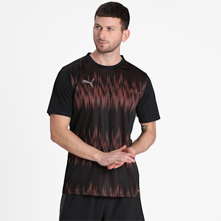 ftblNXT Core Men's Graphic Jersey, Puma Black-Shocking Orange, small