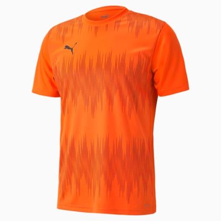 풋볼 넥스트 그래픽 코어 반팔 티셔츠, Shocking Orange-Asphalt, small-KOR